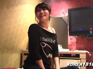 Korean porn Shy Korean girl strips