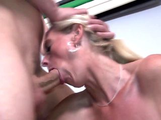 Taboo home sex with gorgeous blond mothers