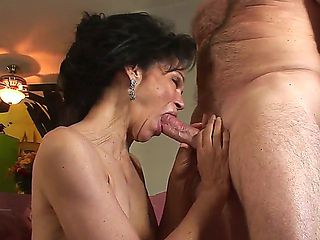 Horny granny with curly haired pussy Sage Hughes fucked by her old lover Jay Crew
