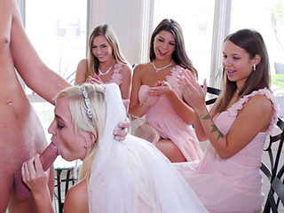 Sexy bridemaids hot orgy before the wedding day