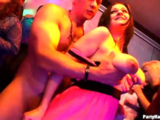Male strippers get friendly with sluts at the party
