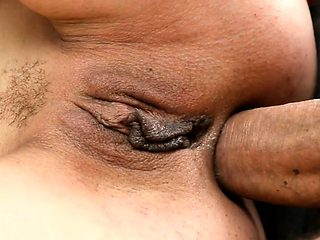 Cum soaked granny anal