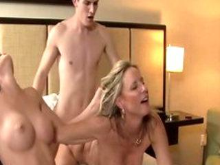 Hottest pornstars Mary Jane Johnson and Jodi West in amazing threesome, blowjob xxx movie