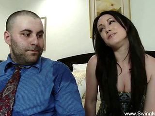Cuckold Sharing Wife On Bed