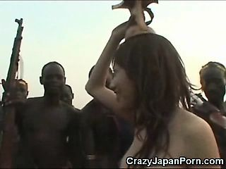 African Tribe Welcomes a Japanese Girl!
