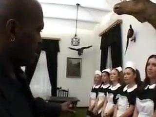 French Maid Gangbang
