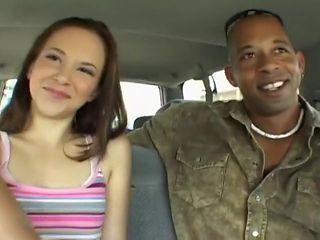 Christina's First Interracial Threesome
