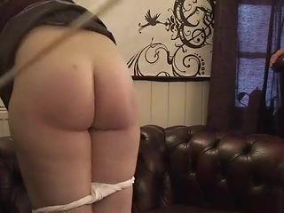 Two schoolgirls spanked