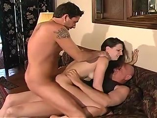 Sexy Wife Takes On Three Big Cocks