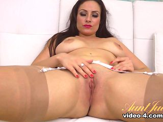 Hottest pornstar in Amazing Stockings, Masturbation porn clip