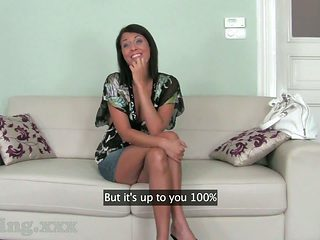 Casting HD Business class brunette hair screwed senseless