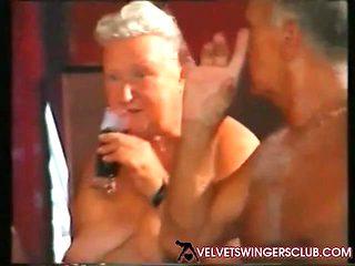 Velvet Swingers Club Granny gangbang party