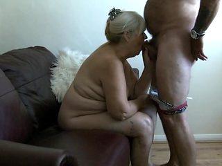 68 Year Old Granny Sucks Cock
