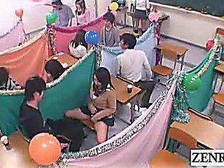 Subtitled Japan Schoolgirls Classroom Masturbation Cafe