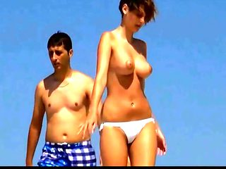Spy beach mature with puffy nipples on cute wet college girl