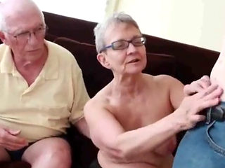 Granny Sucks Grandpa While Sucking & Fucking Her Boytoy