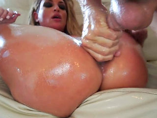 Kissa Sins Oiled Up And Fucked Hard
