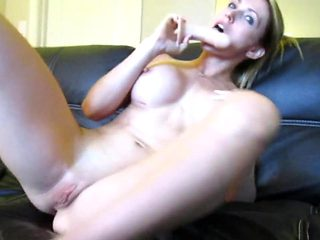 Beautiful Blonde masturbate with passion on