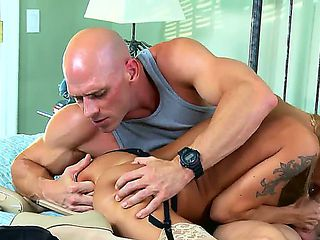Devon gets used to rough morning awakenings. Johnny Sins behaves like real beast with her pussy. ...