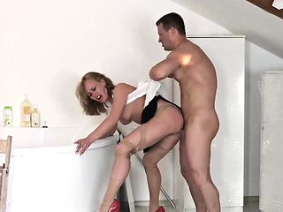 Office slut Anita gets her pussy fucked rough and hard