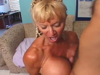 Utah Sweet Massages A Cock With Her Big Tits