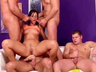 Fabulous pornstar Mandy Saxo in best piercing, hd sex scene