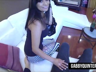 Mexican Slut Gabby Quinteros Gets a POV Style Pounding