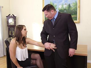 Naive College Hottie Sara Luvv Exploited By Older Man