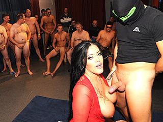 extreme Ashley Cum Star gangbang orgy