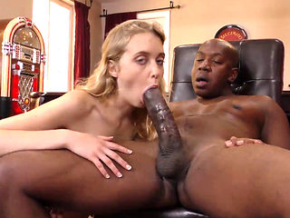 Sexy Blond Sucking And Fucking A Big Black Cock