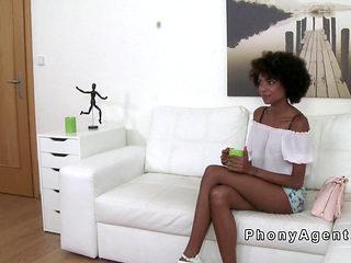 Long Legged Ebony Amateur Fucks In Casting