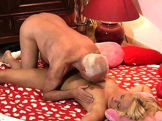 Grandpa Fucks Teen Beautiful Nympho She Swallows Cum