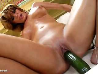 Johanna being solo masturbating on Give Me Pink with passion