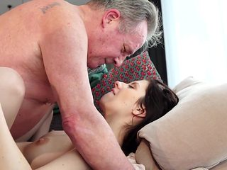Old and Young Porn - Sweet innocent girlfriend gets fucked