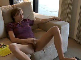 Redined lady got caught masturbating