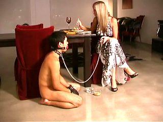 Amazing amateur Femdom, Blonde sex clip