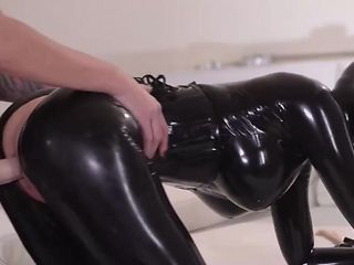 Latex and unbelievably hot fetish actions