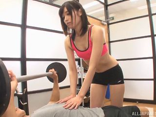 Japanese gym is a great place to do some wild cock riding