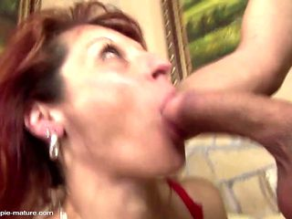 Boy piss on mature mom after hard anal sex