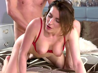 Steve Q & Victoria Daniels in Cute Brunette Enjoys Romantic Sex - DaneJones