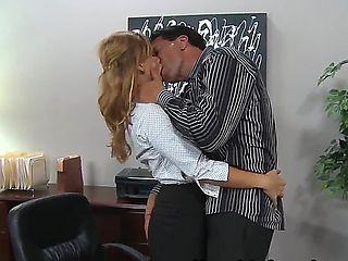 Brooklyn Lee is just a simple office secretary with hot body and big boobs. She is doing an avera...