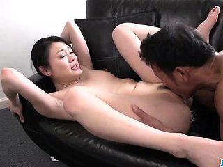 Kyoko Nakajima, perky tits doll, fucked and made to swallow