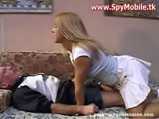hot Blonde daughter fucked with old man