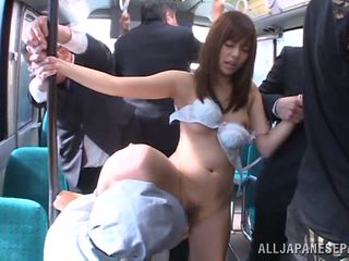 japanese slut gets gangbanged on the bus