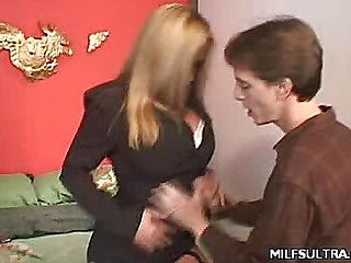 Office MILF Stripping