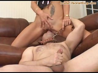 Closeup shoot of Russian femdom juicy pussy getting refined with licking