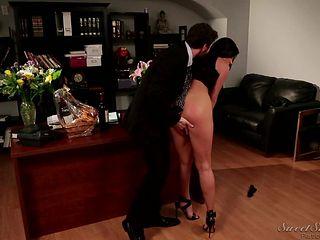 her ass makes him hard