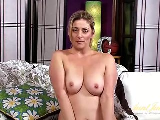 Mommy has fun showing off her sexy big tits