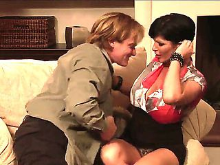 Hot mature fuck with sexy mom Shay Fox and her brutal fucker Evan Stone!