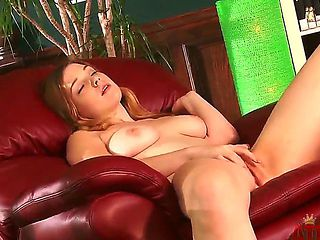 Alaina Fox has the most amazing tits and cute little feet as she masturbates, shes clearly horny ...